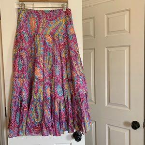 NWOT Lauren Ralph Lauren maxi skirt, size M